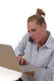 Multitasking 6955 bedrijfs van de Vrouw Stock Foto's