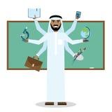 Multitasking Arabische mens Stock Foto's