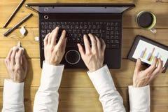 Multitasking biznesmen Obraz Royalty Free