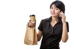 Multitasking business woman Stock Photography