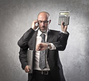 Multitasking businessman Royalty Free Stock Photo