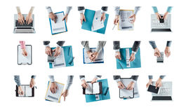 Multitasking businessman Royalty Free Stock Images