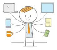 Multitasking Businessman Royalty Free Stock Photography
