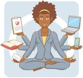 Multitasking Businesswoman Royalty Free Stock Photo