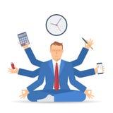 Multitasking c бизнесмена Стоковая Фотография RF