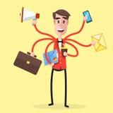 Multitasking Man Party Royalty Free Stock Image