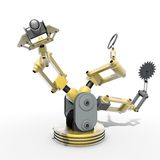 Multitasking robot Royalty Free Stock Photo