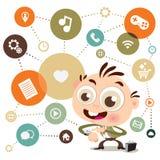 Multitasking Smart Watch Royalty Free Stock Photo