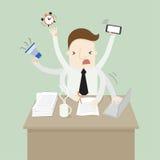 Multitasking stock illustration