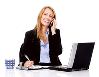 Multitasking woman Royalty Free Stock Photography