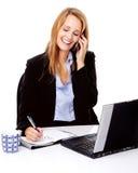 Multitasking woman Stock Photography