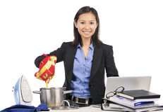 Multitasking woman Stock Photography