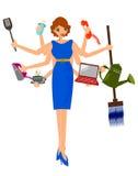 Multitasking woman Stock Photos