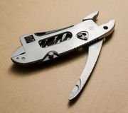 Multitool, pocket knife, pliers Royalty Free Stock Photography