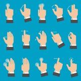 Multitouch gör en gest för minnestavla eller smartphone stock illustrationer
