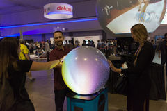 Multitouch spherical display system Royalty Free Stock Images