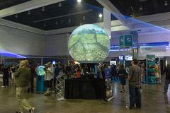 Multitouch spherical display system Royalty Free Stock Photography