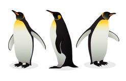 Multitud de los pingüinos de emperador en el fondo blanco fotografía de archivo libre de regalías