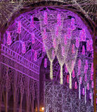 Multitud de luces en la noche Imagenes de archivo
