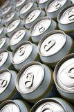 Multitude of beer cans Royalty Free Stock Photo