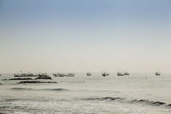 Multitude of fishermen's traditional boats Royalty Free Stock Photo