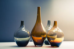 Multitude of glass vases Royalty Free Stock Image