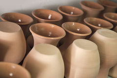 Multitude of pottery Stock Photography