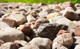Multitude of small colored stones Royalty Free Stock Image