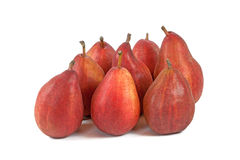 Multitude of vinous pears  on white Stock Images