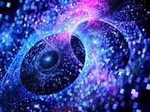 Multiverses d'ardore blu nello spazio Immagini Stock Libere da Diritti