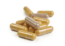 Multivitamin capsules Royalty Free Stock Photography