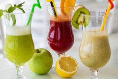 Multivitamin juice. View at  multivitamin juice in the glass Stock Photography