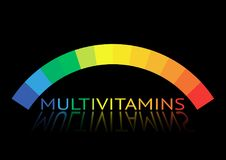 Multivitamin label inspiration, icon concept vitamins,  isolated Royalty Free Stock Image