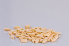 Multivitamin, mutimineral. Multivitamin and mutimineral pills, nutritional Supplement. closeup Stock Photography