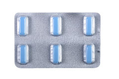 Multivitamin pills. In package with clipping-path Royalty Free Stock Images