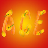 Multivitamin symbol ace Stock Photos