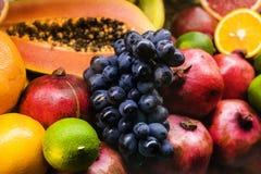 multivitamins, fruit frais, agrume, jus photos stock