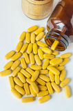 Multivitamins. Supplementary food isolated on a white background Royalty Free Stock Photography
