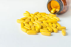 Multivitamins. Supplementary food isolated on a white background Stock Image