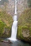 Multnomah cai Oregon com ponte Imagem de Stock