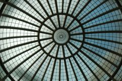 Multnomah Co. Library Skylight. This the the skylight of the Multnomah County Library in Portland, Oregon stock photography