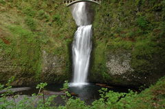 Multnomah Falls. Two level drop of Multnomah Falls, Oregon (USA Stock Images