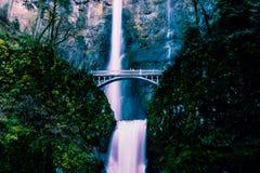 Multnomah falls america summer mountains Stock Image