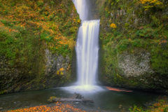 Multnomah Falls in Autumn Stock Photography