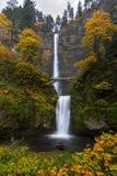 Multnomah Falls in Autumn Stock Photography