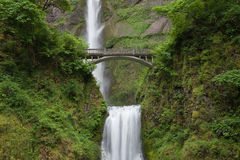Multnomah Falls and Bridge Stock Photography