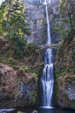 Multnomah Falls in Columbia River Gorge Oregon Stock Photo