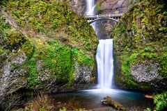 Multnomah Falls in the Columbia River Gorge, USA royalty free stock photography