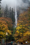Multnomah Falls in the Foggy Mist Stock Photos