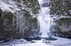 Multnomah Falls Frozen Royalty Free Stock Photos